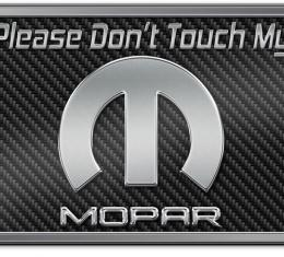 American Car Craft Don't Touch My Mopar Stainless Dash Plaque Red CF 171008-RD
