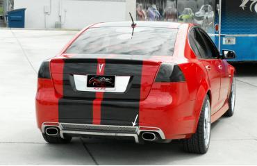 2008-2009 Pontiac GT GXP G8 - Rear Valance Trim Ring Lower Base - Stainless Steel, Choose Finish 222006