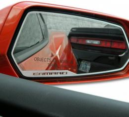"American Car Craft 2010-2013 Chevrolet Camaro Mirror Trim Side View Satin ""Camaro Style"" 2pc 102056"