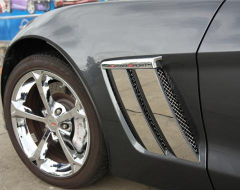 American Car Craft 2005-2013 Chevrolet Corvette Vent Grille Laser Mesh Side 6pc Front 042082