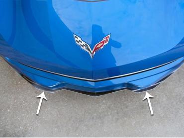 American Car Craft 2014-2019 Chevrolet Corvette Lip Spoiler Polished Plain 052057