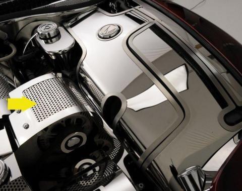 American Car Craft Alternator Cover Perforated 033051