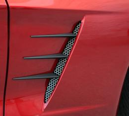 American Car Craft Chevrolet Corvette 2005-2013  Vent Spears w/Perforated Vents 8pc C6 Black Stealth 042114