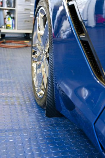 American Car Craft 2014-2019 Chevrolet Corvette Mud Guards Carbon Fiber Wrapped 4pc 052024