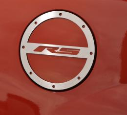 "American Car Craft 2010-2017 Chevrolet Camaro Gas Cap Cover Satin ""RS"" 102008"