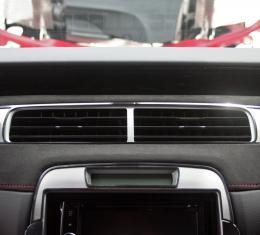 American Car Craft 2012-2015 Chevrolet Camaro A/C Vent Trim Satin Polished Center Kit 3pc 101020