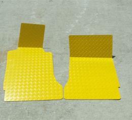American Car Craft 2005-2013 Chevrolet Corvette Floor Mats Show Diamond Plate Yellow 041005