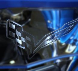 American Car Craft 2014-2019 Chevrolet Corvette Hood Badge Emblem for Factory Pad 053021