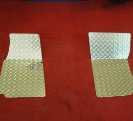 American Car Craft Floor Mats Diamond Plate 2pc 011001