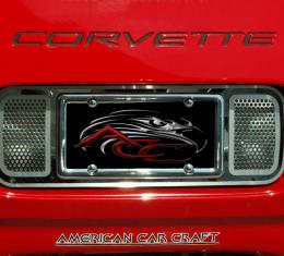 American Car Craft Tag Plate Perforated Rear 032020