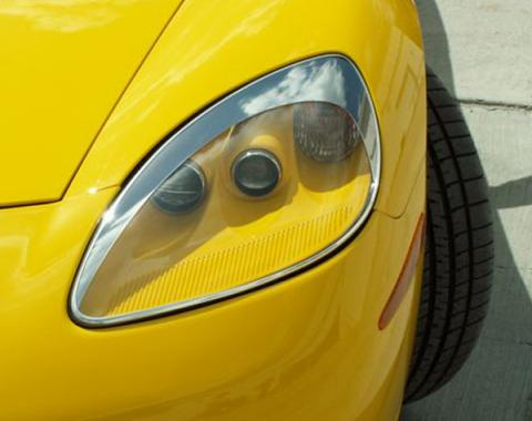 American Car Craft 2005-2013 Chevrolet Corvette Eyebrow Kit Chrome ABS 042032