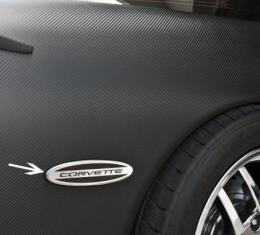 American Car Craft Side Marker Trim Satin Corvette GM Licensed Rear Side 2pc 032052