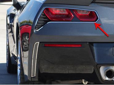 American Car Craft 2014-2019 Chevrolet Corvette Tail Light Trim Rings Polished 2pc 052019