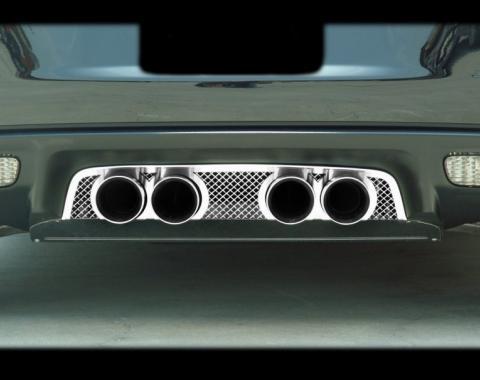 American Car Craft 2005-2013 Chevrolet Corvette Exhaust Filler Panel Corsa 3.5 Laser Mesh 042009