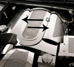 American Car Craft 2014-2019 Chevrolet Corvette Fuel Rail Covers Perforated Replacement Style w/cap cover 033047