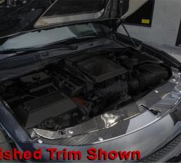American Car Craft Front Header Plate Carbon Fiber w/Polished Trim 2pc 333031