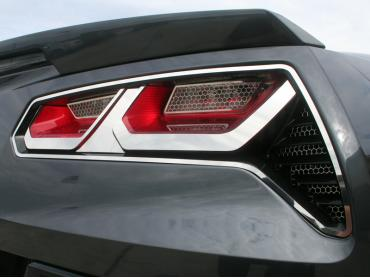 American Car Craft 2014-2019 Chevrolet Corvette Tail Light Trim Kit Polished 8pc 052013