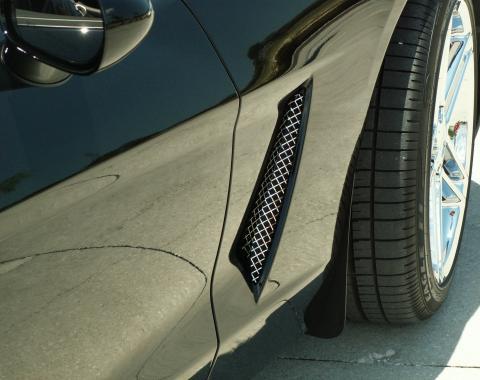 American Car Craft Chevrolet Corvette 2005-2013  Vent Grilles Laser Mesh Side 2pc C6 042053