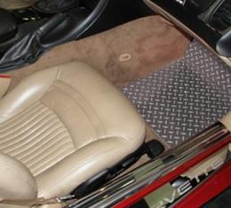 American Car Craft Floor Mat Diamond Plate 2pc 031001
