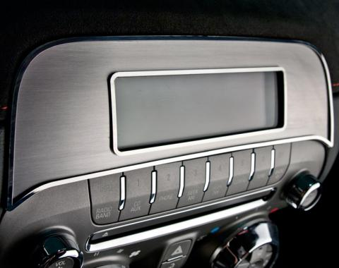 American Car Craft 2010-2015 Chevrolet Camaro Radio Trim Plate Satin/Polished for Factory Radio 101044