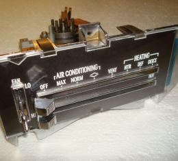 Camaro Heater Control Panel Assembly, For Cars With Air Conditioning, Remanufactured, 1970-1972