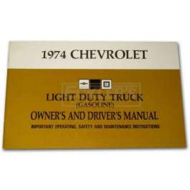 Chevy Truck Owner's Manual, 1974