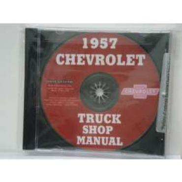 Chevy Truck Shop Manual, On CD, 1957