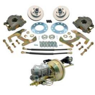 Chevy Truck Power Disc Brake Kit, Five Lug, Front, 1955-1959