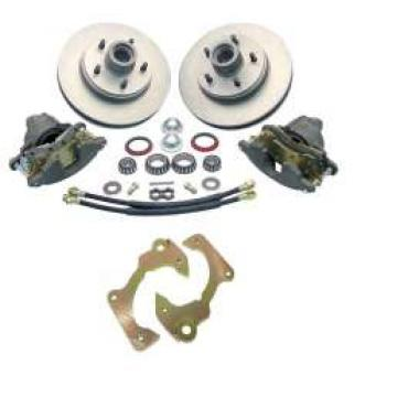Chevy Truck Disc Brake Kit, Front, At The Wheel, 5 On 4-3/4 Bolt Pattern, 1963-1970