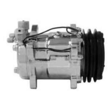 Chevy Truck Air Conditioning Compressor, Chrome, Sanden 508/134A, 1947-72