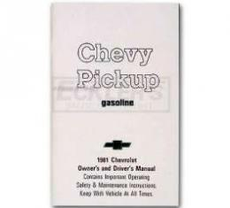 Chevy Truck Owner's Manual, 1981