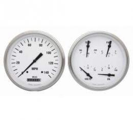 Chevy Truck Classic Instruments White Hot Series Custom Gauge Package, 1947-1953