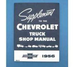 Chevy Truck Shop Manual, Supplement, 1956