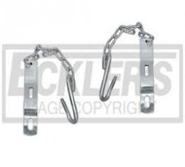 Chevy Truck Tailgate Chains, Zinc Plated, Fleet Side, 1958-1966