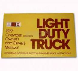 Chevy Truck Owner's Manual, 1977