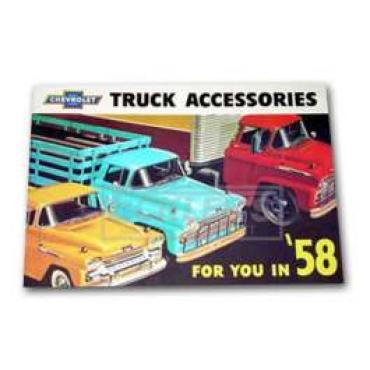 Chevrolet Truck Accessories Brochure, 1958