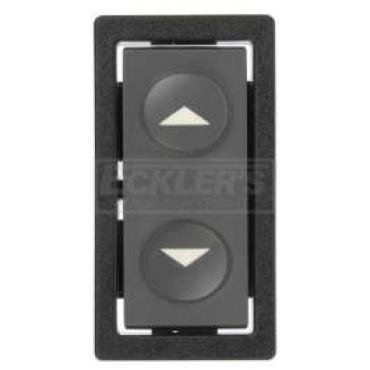 Chevy & GMC Truck Switch, Window, C/K Pick-Up, Left or Right, Front, Single Button, Except Deluxe Interior, 1990-1994