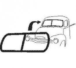 Chevy Truck Windshield Weatherstrip, For 2-Piece Glass & No Chrome, 1947-1953