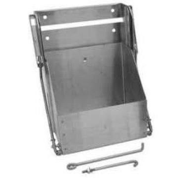 Chevy Truck Drop Down Battery Box, For Group 26 Batteries, Stainless Steel, 1947-1959