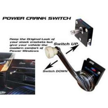 Chevy Truck Power Window Switch, Crank Handle, 1-5/16 Shaft Length