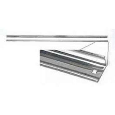 Chevy Truck Angle Bed Strips, Steel, 89, Long Bed, Step Side, 1955-1957