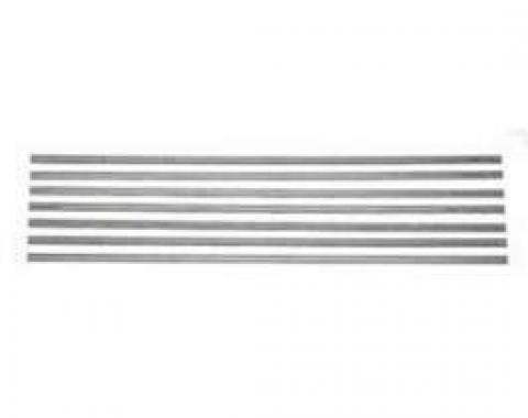 Chevy Truck Bed Strips, Steel, Short Bed, Fleet Side, 1967-1972