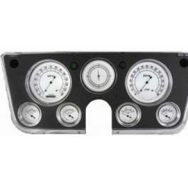 Chevy Truck Gauge Kit, Classic Instruments, Classic White Series, 1967-1972