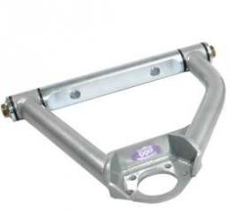 Chevy Truck Upper Control Arms, With Ball Joints, Tubular, Silver, 1963-1972
