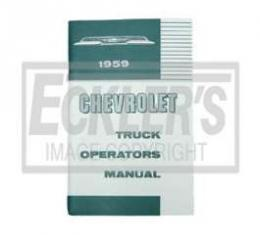 Chevy Truck Owner's Manual, 1959