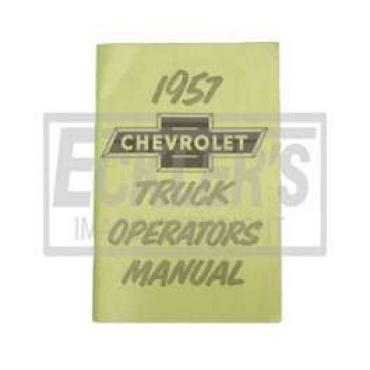 Chevy Truck Owner's Manual, 1957