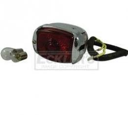 Chevy Truck Taillight Assembly, Chrome, With Chrome Bezel, Left, 1947-1953