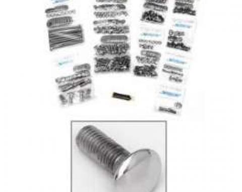 Chevy Truck Button Head Bolt Kit, Step Side Short Bed, Stainless Steel, 1955-1959