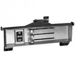 Chevy Truck Heater Control Panel, Black Face, For Trucks Without Air Conditioning, 1967-1972