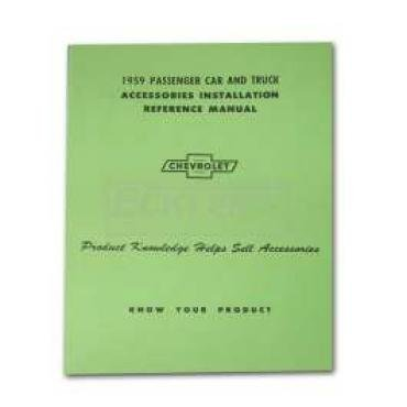 Chevy Truck Accessories Installation Manual, 1959
